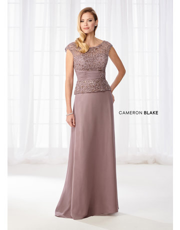 Cameron Blake Mon Cheri Cameron Blake Mother of the Bride 114657, Color: Mink, Size: 16