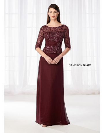 Cameron Blake Mon Cheri Cameron Blake Mother of the Bride 114657, Color: Wine, Size: 20