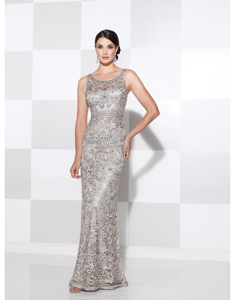 Cameron Blake Mon Cheri Cameron Blake Mother of the Bride 115604, Color: Silver, Size: 14