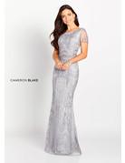 Cameron Blake Mon Cheri Cameron Blake Mother of the Bride 119644, Color: Navy, Size: 16