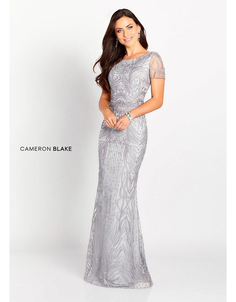 Cameron Blake Mon Cheri Cameron Blake Mother of the Bride 119644, Color: Dark Sage, Size: 12