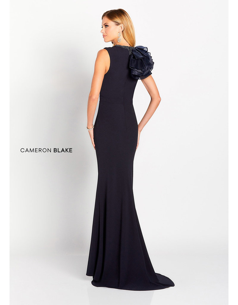 Cameron Blake Mon Cheri Cameron Blake Mother of the Bride 119645, Color: Midnight, Size: 16
