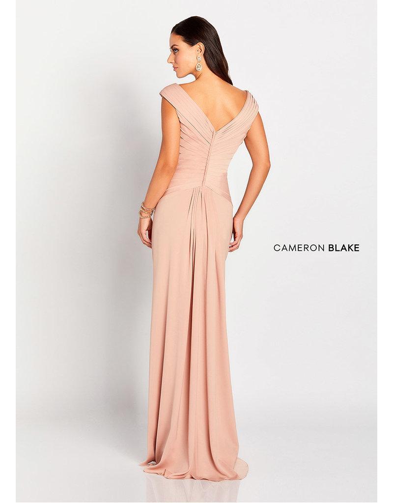 Cameron Blake Mon Cheri Cameron Blake Mother of the Bride 119646, Color: Apricot, Size: 16