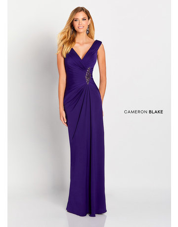 Cameron Blake Mon Cheri Cameron Blake Mother of the Bride 119646, Color: Purple, Size: 20