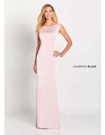Cameron Blake Mon Cheri Cameron Blake Mother of the Bride 119647, Color: Indigo, Size: 16