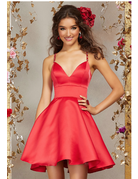 Damas Mori Lee Damas 9506, Color: Scarlet, Size: 10