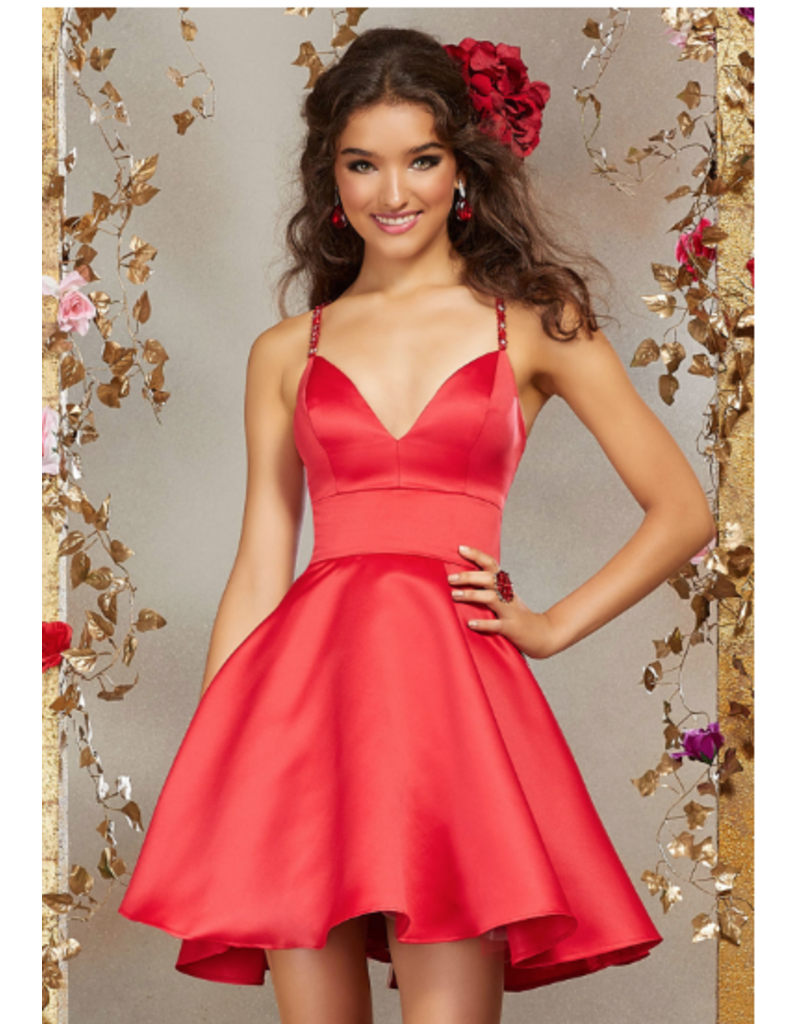Damas Mori Lee Damas 9506, Color: Scarlet, Size: 10