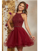 Damas Mori Lee Damas 9508, Color: Sangria, Size: 6