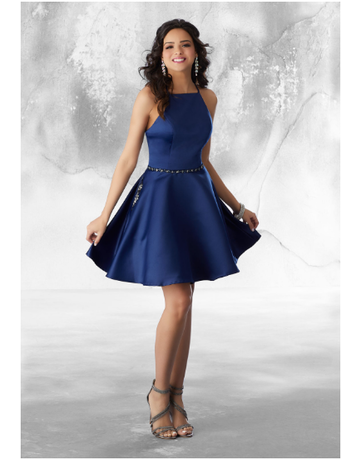 Damas Mori Lee Damas 9482, Color: Navy, Size: 6