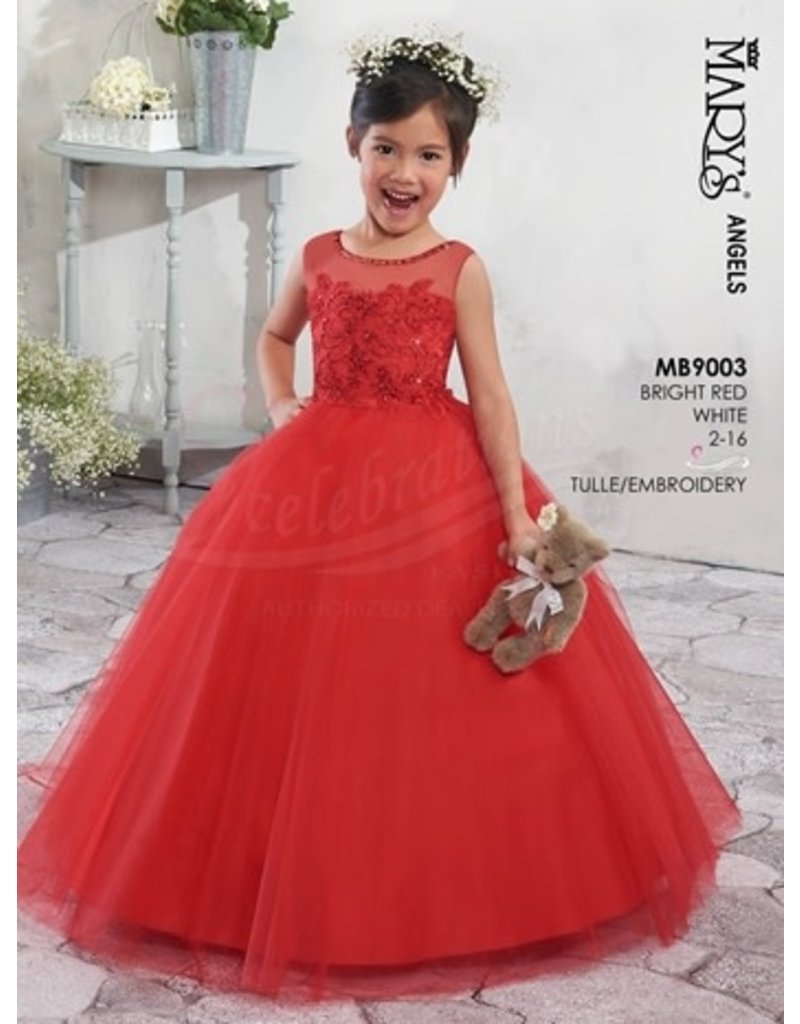 Mary's Angels Mary's Bridal Mary's Angels MB9003, Color: Bright Red, Size: 8
