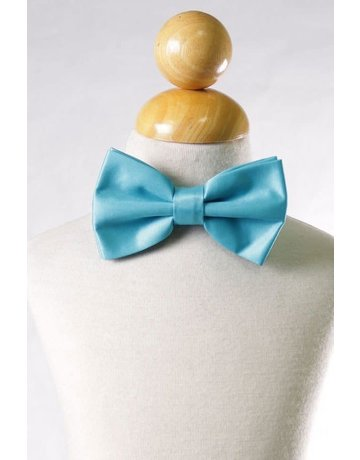 Calla Collection USA INC. Calla Collection Men's Polyester Bow Tie, Color: Aqua