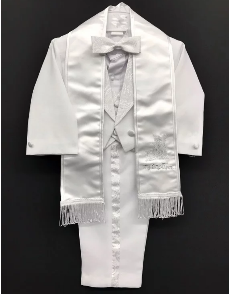 Lucky Imports Lucky Imports Boy's Angel Tuxedo, Color: White, Size: Small
