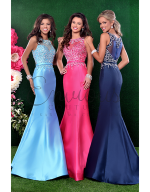 Envious Couture Envious Couture 16072, Color: Aqua, Size: 10