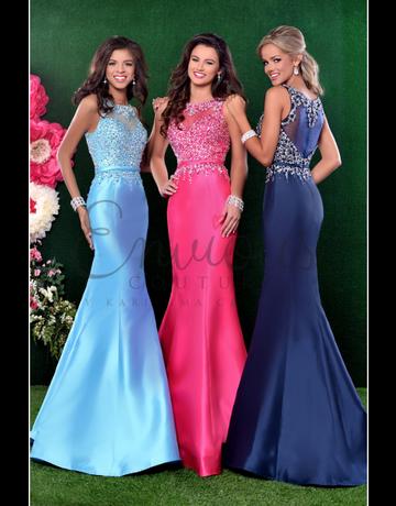 Envious Couture Envious Couture 16072, Color: Aqua, Size: 10
