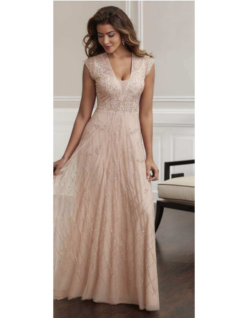 Elegance House of WU Mother of the Bride 17911, Color: Blush, Size: 14