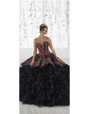 Quinceanera Collection House of WU 26892, Color: Ivory/Multi, Size: 12