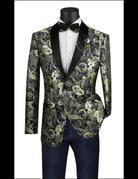 Vinci International Group Corp Vinci Men's Suit BSF9, Color: Gold/Black, Size: Medium