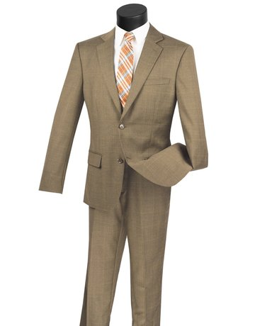 Vinci International Group Corp Vinci Men's Suit 2WWP1, Color: Olive, Size: 40R