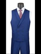 Vinci International Group Corp Vinci Men's Suit SV2R6, Color: Silver, Size: 40S