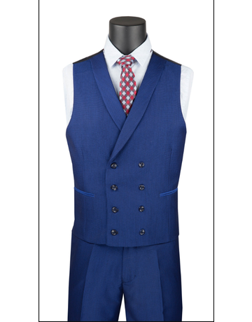 Vinci International Group Corp Vinci Men's 3 PC Suit SV2R6, Color: Blue, Size: 42R