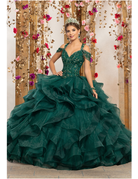Vizcaya Mori Lee Vizcaya 89226, Color: Emerald, Size: 10