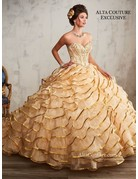 Mary's Quince Mary's Bridal Mary's Quince T191, Color: Gold, Size: 4