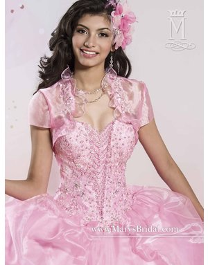 Mary's Quince Mary's Bridal Mary's Quince 4Q413, Color: Pink, Size: 10