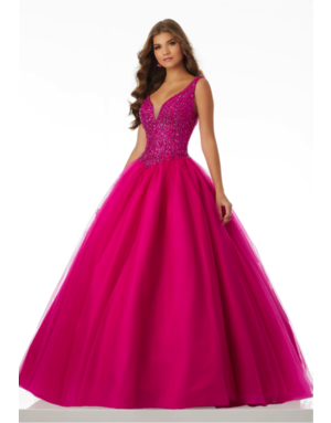 Mori Lee Mori Lee Gown 42093ls, Color: Fuchsia, Size: 18