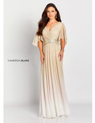 Cameron Blake Mon Cheri Cameron Blake Mother of the Bride 119657, Color: Champagne, Size: 16
