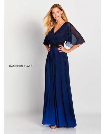 Cameron Blake Mon Cheri Cameron Blake Mother of the Bride 119657, Color: Navy Blue/Black, Size: 20W