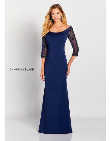 Cameron Blake Mon Cheri Cameron Blake Mother of the Bride 119658, Color: Navy, Size: 18