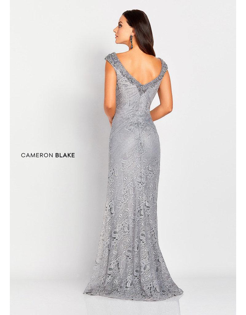 Cameron Blake Mon Cheri Cameron Blake Mother of the Bride 119661, Color: Navy, Size: 18