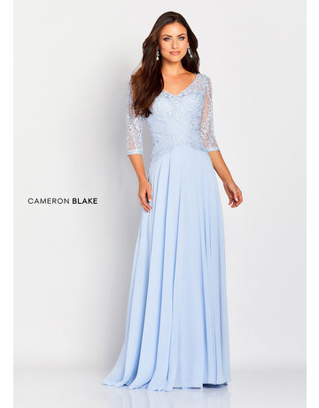 Cameron Blake Mon Cheri Cameron Blake Mother of the Bride 119664, Color: Sky Blue, Size: 16