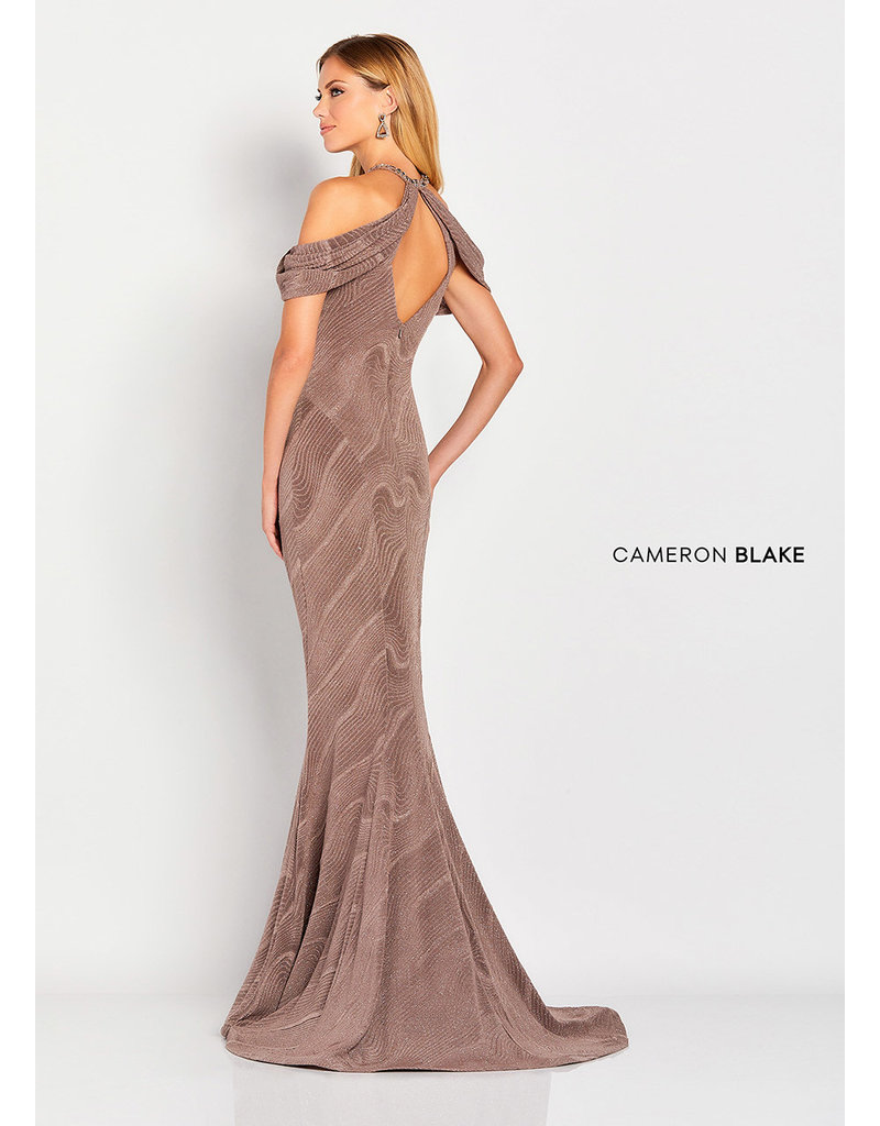 Cameron Blake Mon Cheri Cameron Blake Mother of the Bride 119668, Color: Mocha, Size: 14