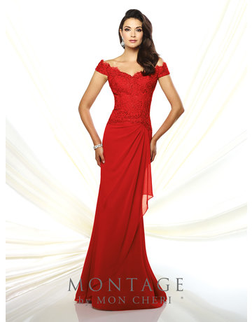 Montage Mon Cheri Montage Mother of the Bride 116937, Color: Red, Size: 14