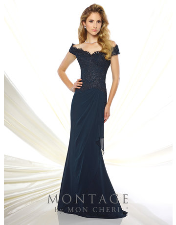 Montage Mon Cheri Montage Mother of the Bride 116937, Color: Navy, Size: 18