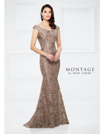 Montage Mon Cheri Montage Mother of the Bride 116948, Color: Mink, Size: 16