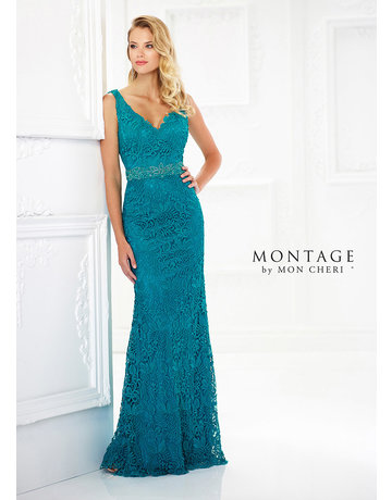 Montage Mon Cheri Montage Mother of the Bride 118968, Color: Teal, Size: 14