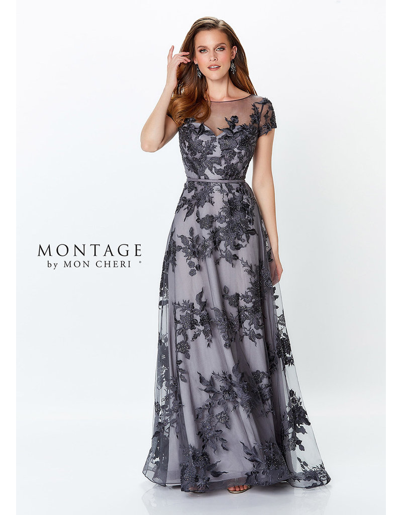 Montage Mon Cheri Montage Mother of the Bride 119945, Color: Charcoal, Size: 14