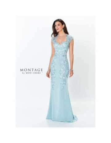 Montage Mon Cheri Montage Mother of the Bride 119952, Color: Aqua, Size: 16