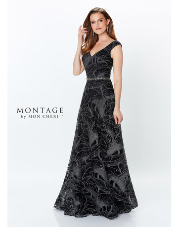 Montage Mon Cheri Montage Mother of the Bride 119957, Color: Black/Pewter, Size: 14