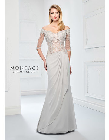 Montage Mon Cheri Montage Mother of the Bride 218905, Color: Ice Grey, Size: 14