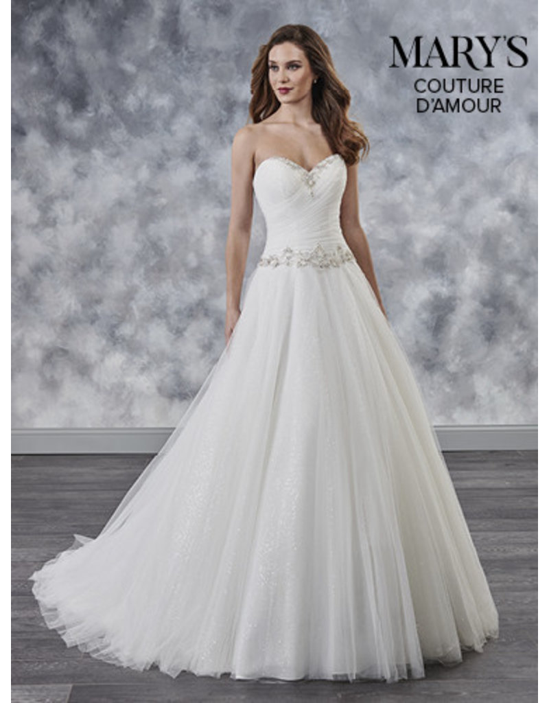 Mary's Bridal Mary's Bridal Mary's Bridal MB4028, Color: White, Size: 18