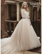 Mary's Bridal Mary's Bridal Mary's Bridal MB3027, Color: Ivory/Blush, Size: 14