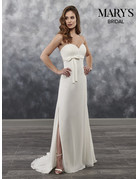 Mary's Bridal Mary's Bridal Mary's Bridal MB1020, Color: White, Size: 8