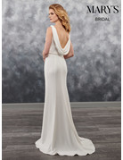 Mary's Bridal 2019 MOTHERS OF MB1023 IVORY 8 MB1023