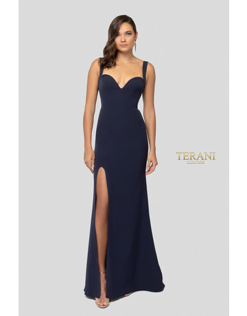 Terani Couture Terani Couture 1911P8138, Color: Navy, Size: 14