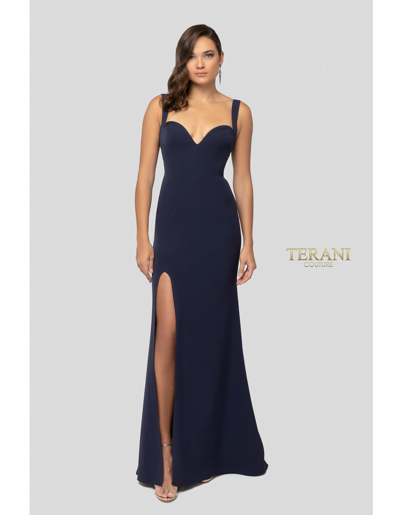 Terani Couture Terani Couture 1911P8138, Color: Navy, Size: 14