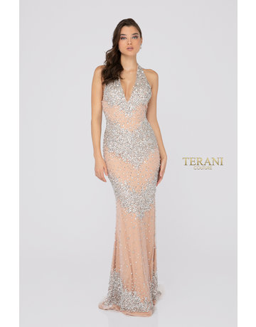 Terani Couture Terani Couture 1911P8140, Color: Crystal/Nude, Size: 12