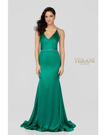 Terani Couture Terani Couture 1911P8171, Color: Emerald, Size: 10